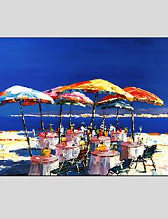 tanie Pejzaże abstrakcyjne-Hang-Malowane obraz olejny Ręcznie malowane - Krajobraz Nowoczesny / Fason europejski Brezentowy