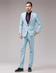 billige Herremote og klær-Bomull Moderne Stil Tynn Blazer Sett - Ensfarget Helfarge Forretning Herre