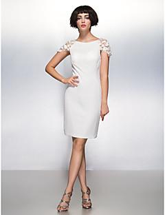 tanie Sukienki na zakończenie szkoły-Ołówkowa / Kolumnowa Wycięcie Do kolan Szyfon Spotkanie towarzyskie Sukienka z Kwiat przez TS Couture®