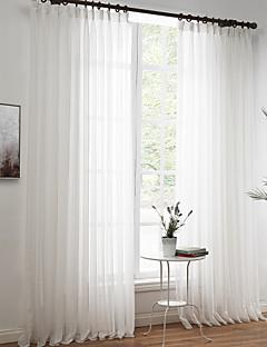 billige Vinduskolleksjoner-Stanglomme Propp Topp Fane Top Dobbelt Plissert To paneler Window Treatment Moderne Designer Europeisk Rokoko Middelhavet Neoklassisk Land