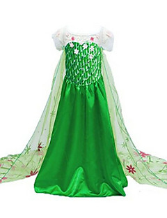 cheap Kids Halloween Costumes-Princess Elsa Movie/TV Theme Costumes Cosplay Costume Party Costume Children's Christmas Halloween Children's Day Festival / Holiday