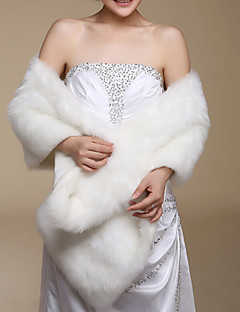 Sleeveless Faux Fur Wedding Party Evening Casual Office Career Wraps Shawls
