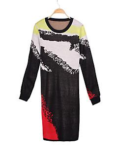 여성 - 캐쥬얼 원형 긴소매 - 스웨터 ( 니트웨어 )