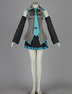 """billige Anime Kostymer-Inspirert av Vokaloid Hatsune Miku Anime  """"Cosplay-kostymer"""" Cosplay Klær Lapper Genser Skjørte Erme Midje Tilbehør Strømper Slips Til"""