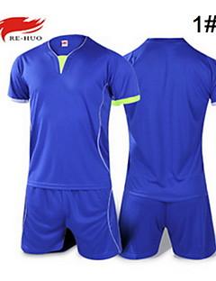 baratos Futebol camisas e Shorts-Homens Futebol Shorts shirt + Conjuntos de Roupas Calças Respirável Verão Outono Moderno Clássico 100% Poliéster Futebol