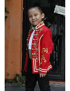 tanie Ubiór ślubny dla dzieci-Tęczowy Poliester Garnitur dla małego drużby - 5 Zawiera Marynarka Pas Koszula Spodnie Muszka