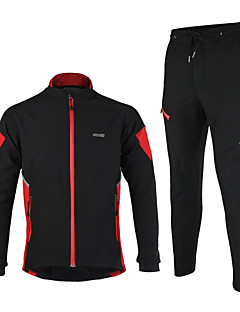 Arsuxeo Cycling Jacket with Pants Men's Long Sleeves Bike Jacket Clothing Suits Thermal / Warm Windproof Anatomic Design Waterproof