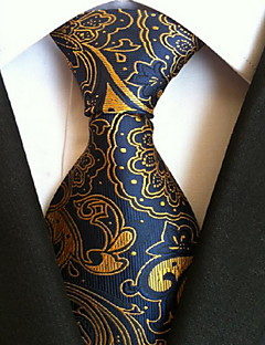 Men's Polyester Neck Tie,Vintage Cute Party Work Casual Print All Seasons Blue