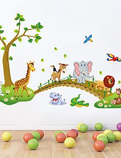 hesapli Çizgi Film Duvar Çıkartmaları-Hayvanlar Natürmort Karton Duvar Etiketler Uçak Duvar Çıkartmaları Dekoratif Duvar Çıkartmaları, Vinil Ev dekorasyonu Duvar Çıkartması