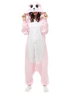 billige Kigurumi-Kigurumi Pyjamas Mus Trikot/Heldraktskostymer Festival/høytid Pysjamas med dyremotiv Halloween Lapper Polar Fleece Kigurumi Til Unisex