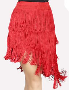 levne Novinky-Latinské tance Spodní část oděvu Dámské Výkon Polyester Spandex Třásně Sukně