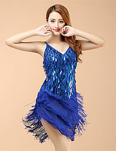 Werden wir Latin Tanz Kleider Frauen Performance Organza Kleid