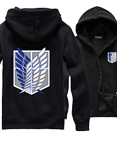 geinspireerd door Attack on Titan Allen Walker Anime Cosplaykostuums Cosplay Sweaters Effen Print  Lange mouw Top VoorMannelijk