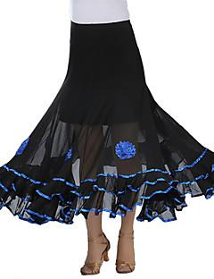 levne Novinky-Standardní tance tutu a sukně Dámské Výkon Krep Nabírání Sukně