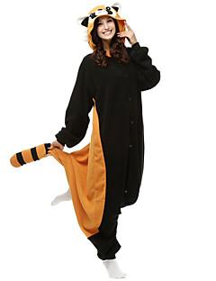 Kigurumi Pijamale Urs Raton Leotard/Onesie Festival/Sărbătoare Sleepwear Pentru Animale Halloween Negru Peteci Lână polară Kigurumi Pentru