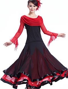 hesapli -Balo Dansı Elbiseler Kadın's Performans Krepe Włókno mleczne Drape Elbise