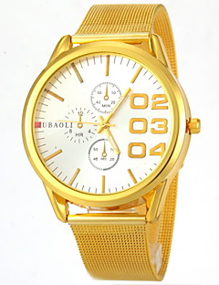 billige Rustfrit stål-JUBAOLI Herre Quartz Armbåndsur Afslappet Ur Rustfrit stål Bånd Vedhæng Guld