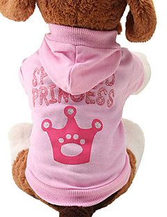 Cat Dog Hoodie Dog Clothes Cute Fashion Tiaras & Crowns Pink