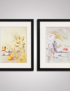 Χαμηλού Κόστους Αφηρημένα Έργα σε Κορνίζα-Εκτύπωση Τέχνης σε Κορνίζα Καμβάς σε Κορνίζα Σετ σε Κορνίζα Αφηρημένο Νεκρή Φύση Άνθινο/Βοτανικό Φαντασία Wall Art, PVC Υλικό με Πλαίσιο