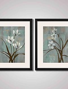 Χαμηλού Κόστους Έργα Νεκράς Φύσης σε Κορνίζα-Εκτύπωση Τέχνης σε Κορνίζα Καμβάς σε Κορνίζα Σετ σε Κορνίζα Αφηρημένο Τοπίο Νεκρή Φύση Άνθινο/Βοτανικό Wall Art, PVC Υλικό με Πλαίσιο