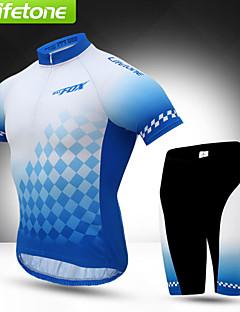 BAT FOX Sykkeljersey med shorts Herre Kort Erme Sykkel Fôrede shorts Jersey Shorts KlessettFort Tørring Vindtett Ultraviolet