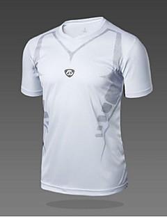 Homens Camiseta de Trilha Secagem Rápida Resistente Raios Ultravioleta Respirável Macio Suavidade Materiais Leves Redutor de Suor