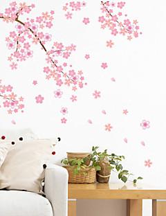 preiswerte Botanische Wandsticker-Landschaft Romantik Mode Formen Blumen Transport Fantasie Botanisch Cartoon Design Feiertage Wand-Sticker Flugzeug-Wand Sticker