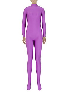 Zentai Suits Ninja Zentai Cosplay Costumes Purple Solid Leotard/Onesie Zentai Spandex Lycra Unisex Halloween