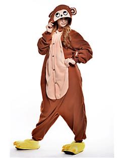 billige Kigurumi-Kigurumi-pysjamas Ape Onesie-pysjamas Kostume Polar Fleece Brun Cosplay Til Pysjamas med dyremotiv Tegnefilm Halloween Festival / høytid