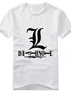 Inspired by Death Note Yagami Raito Anime Cosplay Costumes Cosplay T-shirt Print Short Sleeves T-shirt For Unisex