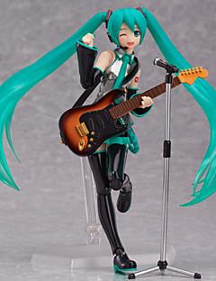 billige Anime cosplay-Anime Action Figurer Inspirert av Vokaloid Hatsune Miku PVC CM Modell Leker Dukke
