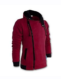 baratos Abrigos e Moletons Masculinos-Homens Tamanhos Grandes Jacket Hoodie Sólido
