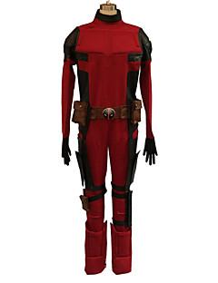 תחפושות קוספליי גיבורי על תחפושות משחק של דמויות מסרטים אדום / שחור טלאים /סרבל תינוקותבגד גוף / חגורה / מסכה / עוד אביזריםהאלווין (ליל