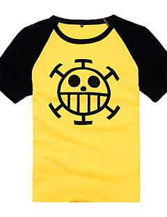 Ihlette One Piece Trafalgar Law Anime Szerepjáték jelmezek Cosplay póló Nyomtatott Rövid ujjú Kabát Kompatibilitás Férfi Nő