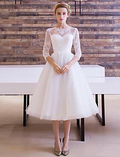 Свадебное платье длиной в тюльпаны с лентой с лентой от lan ting bride®