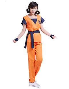 """billige Anime cosplay-Inspirert av Dragon Ball Son Goku Anime  """"Cosplay-kostymer"""" Cosplay Klær Trykt mønster Kortermet Topp Bukser Belte Til Mann"""