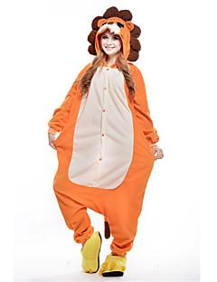 Kigurumi Pyjamas Løve Kostume Oransje Polar Fleece Kigurumi Trikot / Heldraktskostymer Cosplay Festival / høytid Pysjamas med dyremotiv