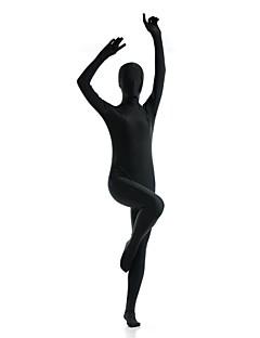 billige Zentai-Zentai Drakter Ninja Zentai Cosplay-kostymer Svart Ensfarget Trikot / Heldraktskostymer Zentai Spandex Elastan Herre Dame Halloween / Høy Elastisitet