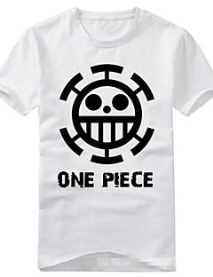 """Inspirert av One Piece Trafalgar Law Anime  """"Cosplay-kostymer"""" Cosplay T-skjorte Trykt mønster Kortermet T-Trøye Til Unisex"""