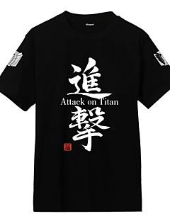 """billige Anime Kostymer-Inspirert av Attack on Titan Cosplay Anime  """"Cosplay-kostymer"""" Cosplay Klær Trykt mønster Frakk Til Herre Dame Unisex"""