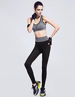 Mulheres Conjunto de Sutiã Esportivo com Calça Secagem Rápida Alta Respirabilidade (>15,001g) Respirável Compressão Colete Sutiã