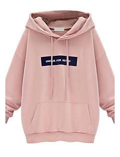 billige Pigesweaters og hættetrøjer-Dame Plusstørrelser Hattetrøje - Bogstaver