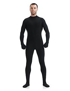 billige Zentai-Zentai Drakter Ninja Zentai Cosplay-kostymer Svart Ensfarget Trikot / Heldraktskostymer Kattesuit Zentai Spandex Elastan Herre Dame