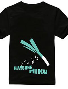 """billige Anime Kostymer-Inspirert av Vokaloid Hatsune Miku Anime  """"Cosplay-kostymer"""" Cosplay T-skjorte Trykt mønster Kortermet T-Trøye Til Unisex"""