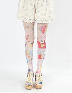 Ponožky a punčochy Sweet Lolita Lolita Lolita Růžová Modrá Lolita Příslušenství Punčocháče Tisk Pro Hedvábí