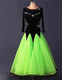 hesapli -Balo Dansı Elbiseler Kadın's Performans Splandeks Drape Elbise