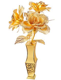 3Dパズル ジグソーパズル メタルパズル おもちゃ バラ 花瓶 3D 調度品 小品