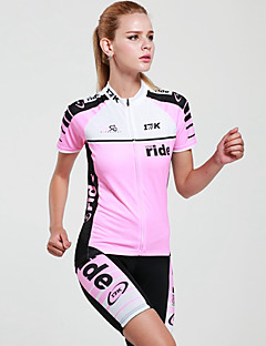 cheap Cycling Jersey & Shorts / Pants Sets-Mysenlan Women's Short Sleeves Cycling Jersey with Shorts - Pink Bike Clothing Suits, Quick Dry, Ultraviolet Resistant, Breathable