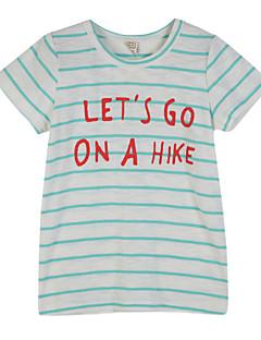 ボーイの コットン Tシャツ,ストライプ 夏