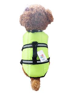 billiga Hundkläder-Hund Väst Livväst Hundkläder Orange Grön Nylon Kostym För husdjur Herr Dam Vattentät
